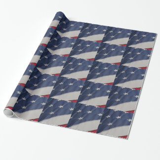 American flag design, gift wrap. wrapping paper