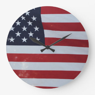 American flag designed clock. large clock