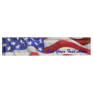 American Flag - Desk Nameplate