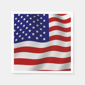 American Flag Disposable Napkin