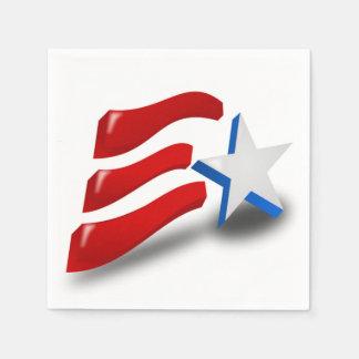 AMERICAN FLAG DISPOSABLE NAPKIN