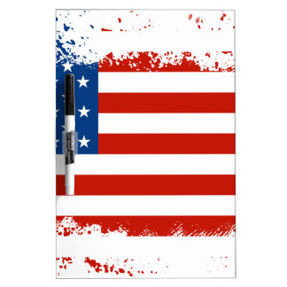 American Flag Distressed Dry Erase Board