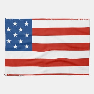 American Flag Distressed Kitchen Towel