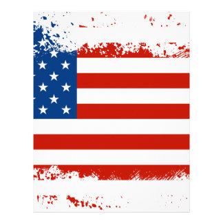 American Flag Distressed Letterhead