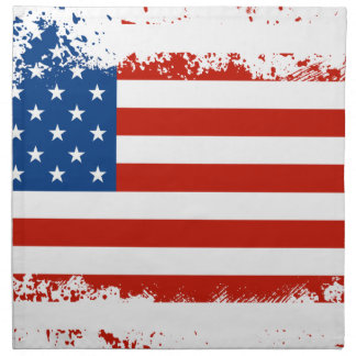 American Flag Distressed Napkin