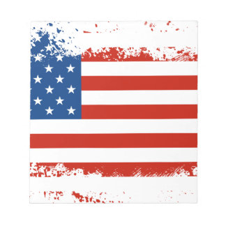 American Flag Distressed Notepad