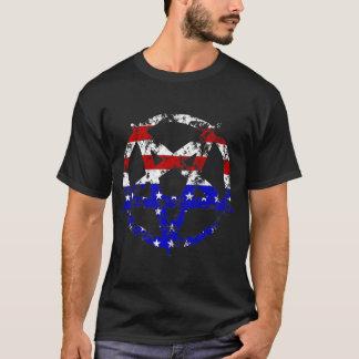 American Flag Distressed Pentagram t-shirt