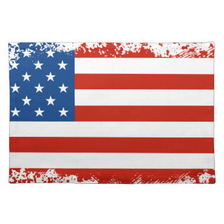 American Flag Distressed Placemat