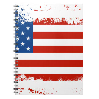 American Flag Distressed Spiral Notebook