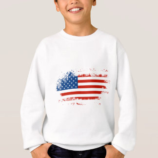 American Flag Distressed Sweatshirt