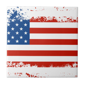 American Flag Distressed Tile