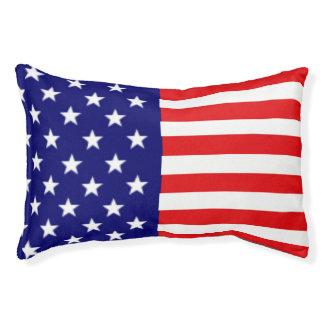 American Flag Dog Bed