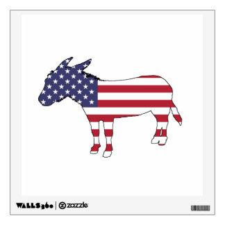 """""""American Flag"""" Donkey Wall Sticker"""
