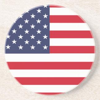 American flag drink coasters