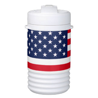 American Flag Drinks Cooler