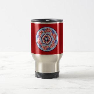 American Flag Dynamic Circle Stainless Steel Travel Mug