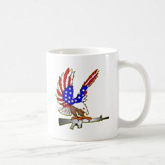 American Flag Eagle Ar-15 M16 Tattoo Coffee Mug
