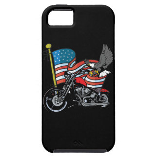 American Flag Eagle Biker Motorcycle iPhone4 Case iPhone 5 Cases