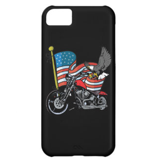 American Flag Eagle Biker Motorcycle iPhone4 Case Cover For iPhone 5C