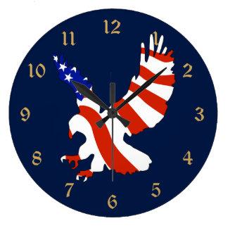 American Flag Eagle Clock