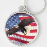 American Flag & Eagle Keychain