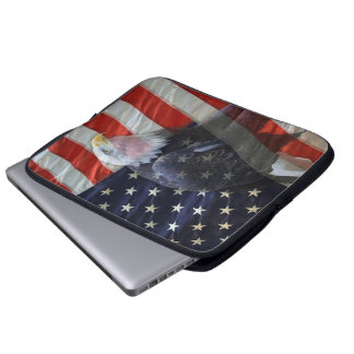 American Flag Eagle Laptop Sleeve