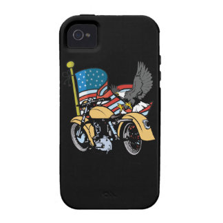 American Flag Eagle Motorcycle iPhone4 Case iPhone 4/4S Case