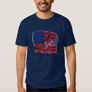 American Flag Eagle Soaring Freedo... - Customized T Shirt