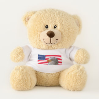 American Flag & Eagle Teddy Bear