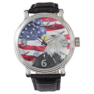 AMERICAN FLAG & EAGLE WRISTWATCHES