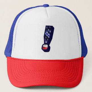 American Flag Exclamation Mark USA Trucker Hat