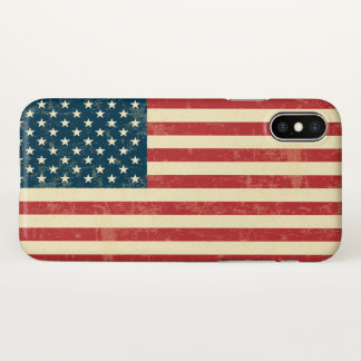 American Flag Faded iPhone X Case