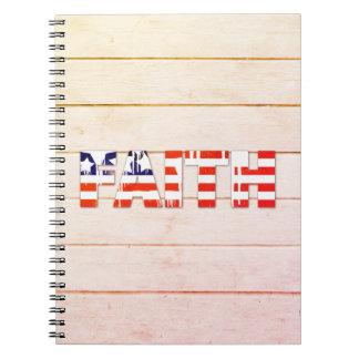 American Flag Faith Notebook