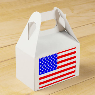 American Flag Favor Box