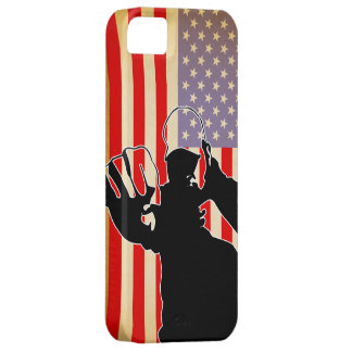 american flag/fight iPhone 5 case
