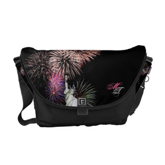 American Flag, Fireworks and Statue of Liberty Bag Commuter Bag