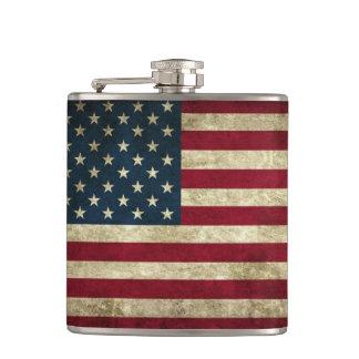 American Flag Flasks