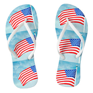 American Flag Flip Flop Shoes