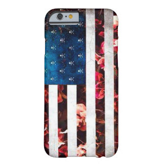 American Flag Flowers Collage Art Barely There iPhone 6 Case