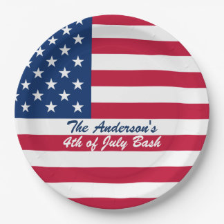 American Flag Fourth of July Paper Plates