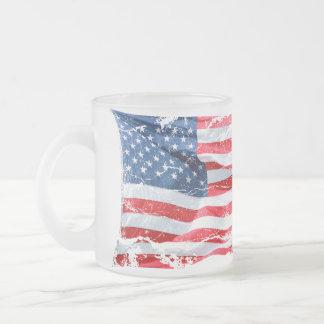 American Flag Frosty Mug