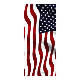 American Flag Full Color Rack Card