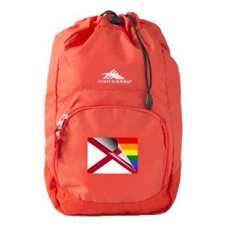 American Flag Gay Pride Rainbow Flag Backpack