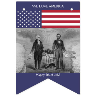 American Flag George Washington Abraham Lincoln US