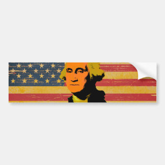American Flag George Washington Bumper Sticker