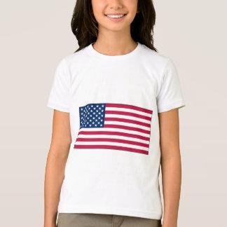American FlagGirls Ringer T-Shirt