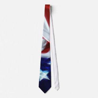 American Flag Glow Stars Tie