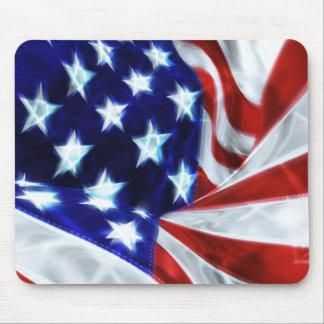 American Flag Glowing Stars Mousepad