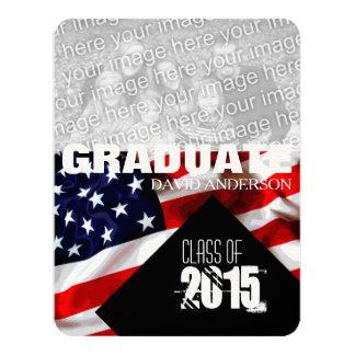 American Flag Graduation Class of 2016 Invitation