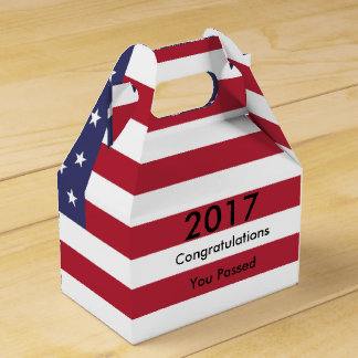 American Flag Graduation Favor Box